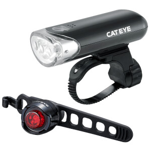 Cateye Front EL135 and Rear Orb LED Light Set