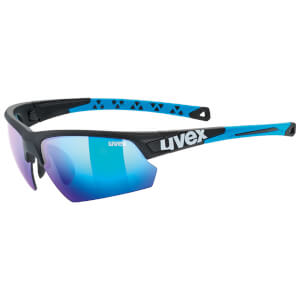 Uvex Sportstyle 224 Glasses - Black Matte/Blue