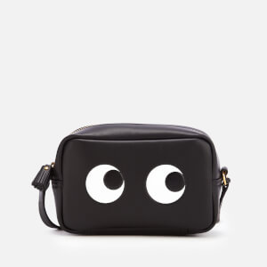 Anya Hindmarch Women's Mini Eyes Right Cross Body Bag - Black