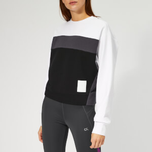 Calvin Klein Performance Women's Pullover Blocked Sweatshirt - Bright White
