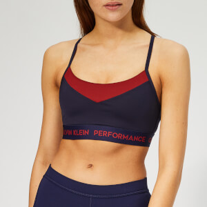 Calvin Klein Performance Women's Adjustable Sports Bra - Evening Blue