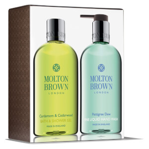 Conjunto para Mãos e Corpo Cardamom & Cedarwood and Pettigree Dew da Molton Brown