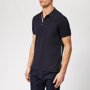 Emporio Armani Men's Tape Detail Polo Shirt - Blue Navy