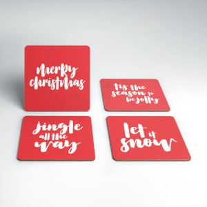 Merry Christmas Coaster Set