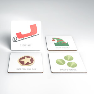 Sleigh My Name Christmas Coaster Set