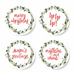 Ho Ho Ho Christmas Coaster Set