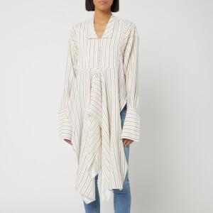 JW Anderson Women's Stripe Handkerchief Shirt - Maize