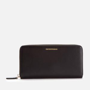 Emporio Armani Women's Wallet Zip A - Nero/Nero