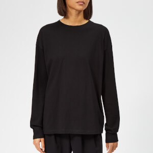 MM6 Maison Margiela Women's Long Sleeve T-Shirt with Logo Back - Black/Black