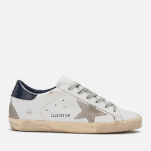 Golden Goose Deluxe Brand Women's Superstar Leather Trainers - White/Blue/Cream