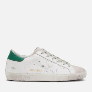 Golden Goose Deluxe Brand Women's Superstar Trainers - White Green Skate