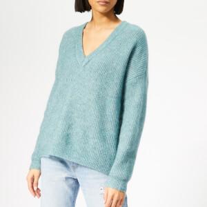 Gestuz Women's Debbie Crop V Pullover - Oil Blue Melange