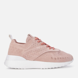 Tod's Women's Suede Runner Style Trainers - Powder Pink
