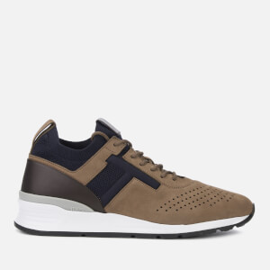 Tod's Men's Lace Up Runner Style Trainers - Brown/Blue