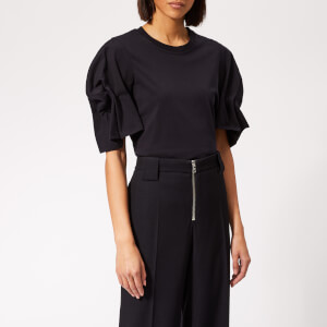 Victoria, Victoria Beckham Women's Puff Sleeve T-Shirt - Midnight
