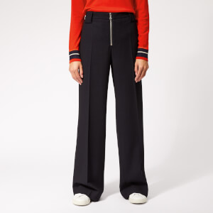 Victoria, Victoria Beckham Women's Front Zip Pants - Midnight