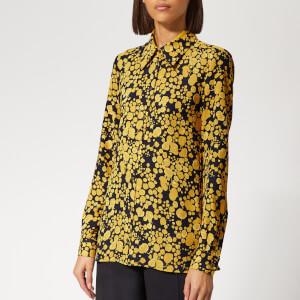 Victoria, Victoria Beckham Women's Fluid Shirt - Midnight/Mustard