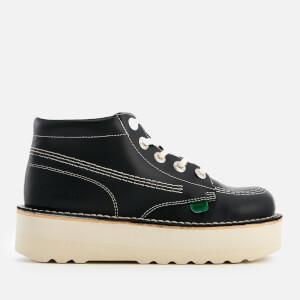 Kickers Women's Kick Hi-Stack Leather Boots - Navy