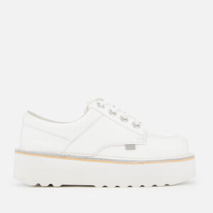 Kickers Women's Kick Lo Stack Shoes - White/Metallic