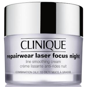 Clinique Repairwear Laser Focus Night Line Smoothing Cream Combination/Oily
