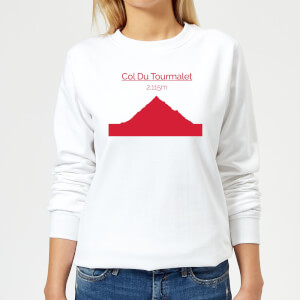 Summit Finish Col du Tourmalet Women's Sweatshirt - White