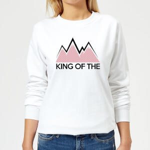 Summit Finish King Of The Mountains Women's Sweatshirt - White