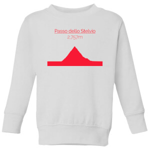 Summit Finish Passo Dello Stelvio Kids' Sweatshirt - White