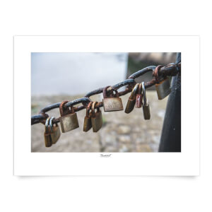 Thunderbolt Photography Padlocks, Liverpool Art Print
