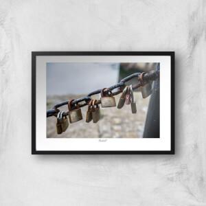 Thunderbolt Photography Padlocks, Liverpool Art Print