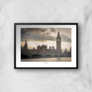 Thunderbolt Photography London Thames View Art Print
