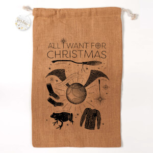 Harry Potter All I Want for Christmas jute kerstzak