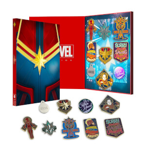 Lot de pin's en édition limitée – Captain Marvel – Exclusivité Zavvi