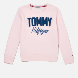 Tommy Hilfiger Girls' Mixed Applique Sweatshirt - Barely Pink