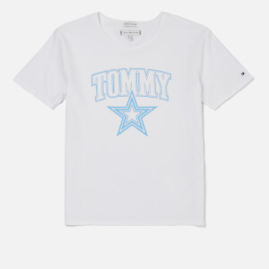Tommy Hilfiger Girls' Essential Tommy Star T-Shirt - Bright White