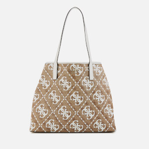 Guess Women's Vikky Large Tote Bag - White/Multi