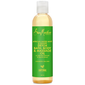 Shea Moisture African Water Mint & Ginger Detox Bath, Body & Massage Oil detoksykujący olejek do kąpieli, ciała i masażu 237 ml