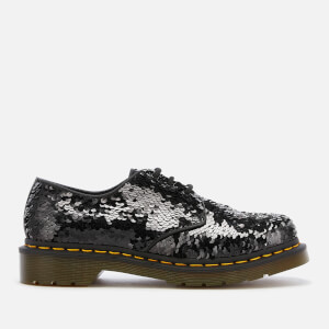 Dr. Martens Women's 1461 Sequin 3-Eye Shoes - Black/Silver