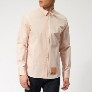 HUGO Men's Emorino Shirt - Open Pink