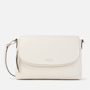 Kate Spade New York Women's Polly Large Flap Cross Body Bag - Parchment