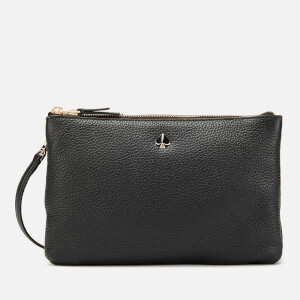Kate Spade New York Women's Medium Double Gusset Cross Body Bag - Black