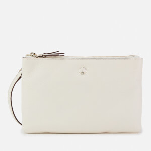Kate Spade New York Women's Polly Medium Double Gusset Cross Body Bag - White