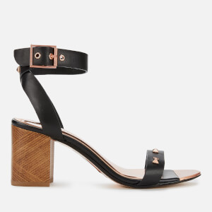 Ted Baker Women's Biah Leather Block Heeled Sandals - Black
