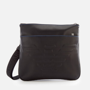 Emporio Armani Men's Flat Messenger Bag - Black