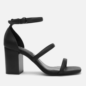 Senso Women's Robbie IV Leather Block Heeled Sandals - Ebony