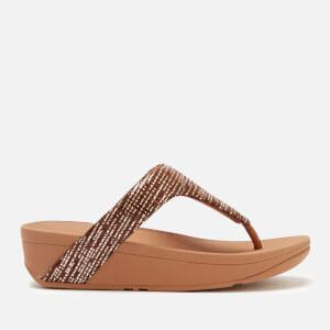 FitFlop Women's Lottie Chain Print Toe Post Sandals - Bronze