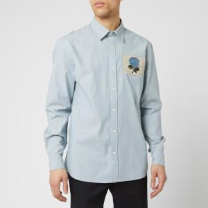 Kent & Curwen Men's Clandon Long Sleeve Shirt - Blue