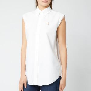 Polo Ralph Lauren Women's Sleeveless Logo Shirt - White