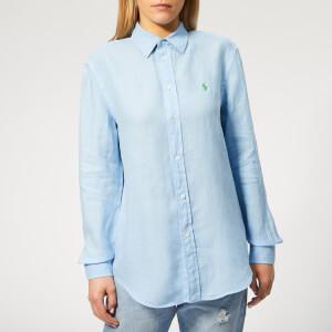 Polo Ralph Lauren Women's Relaxed Long Sleeve Shirt - Harbour Island Blue