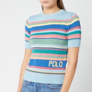Polo Ralph Lauren Women's Short Sleeve Sweater - Blue Multi