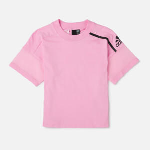 adidas Young Girls' ZNE Short Sleeve T-Shirt - Pink
